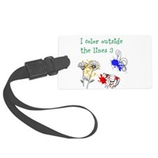 I Color Outside the Lines Luggage Tag