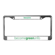 """b(eco)me green"" License Plate Frame"