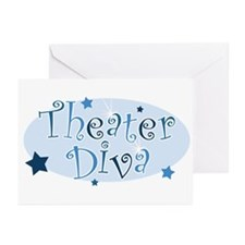 """Theater Diva"" [blue] Greeting Cards (Pk of 10"