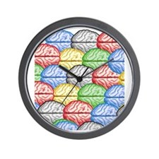 Colorful Brains Wall Clock