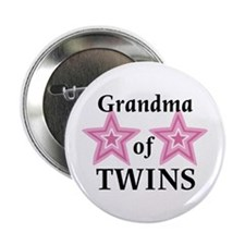 "Grandma of Twins (Girls) 2.25"" Button (100 pack)"