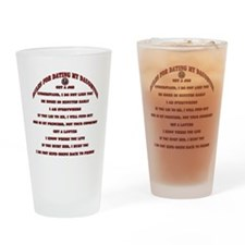 Rules for Dating My Daughter Drinking Glass