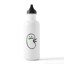 Kidney Mustache Water Bottle
