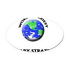 World's Sexiest Military Strategis Oval Car Magnet