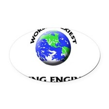 World's Sexiest Mining Engineer Oval Car Magnet