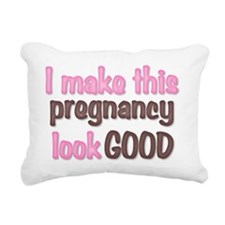 I make this pregnancy lo Rectangular Canvas Pillow
