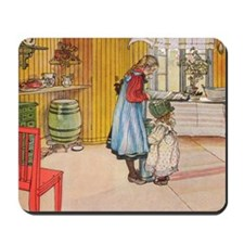 Churning Butter (square) Mousepad