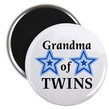 "Grandma of Twins (Boys) 2.25"" Magnet (100 pack)"