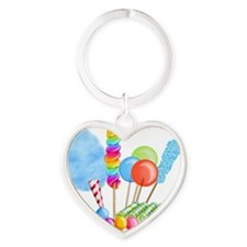 candy circus boy- png Heart Keychain