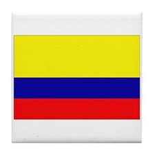 Cute Colombia flag Tile Coaster