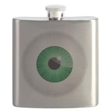 Bloodshot Green Eyeball Flask