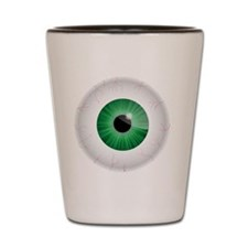 Bloodshot Green Eyeball Shot Glass