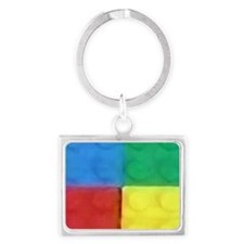 Color Blocks Landscape Keychain