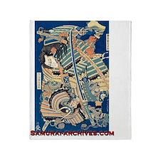 Hokusais Samurai Throw Blanket