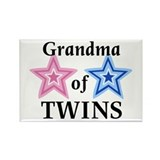 Grandma of Twins (Girl, Boy) Rectangle Magnet (10
