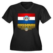 Missouri Pri Women's Plus Size Dark V-Neck T-Shirt