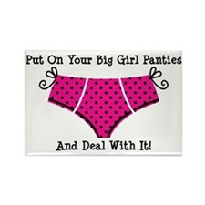 Big Girl Panties 1 Rectangle Magnet