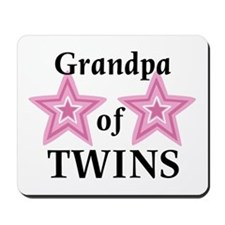 Grandpa of Twins (Girls) Mousepad
