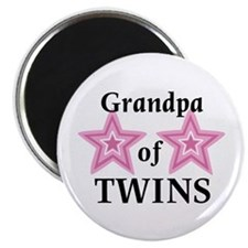 "Grandpa of Twins (Girls) 2.25"" Magnet (10 pack)"