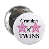 Grandpa of Twins (Girls) Button