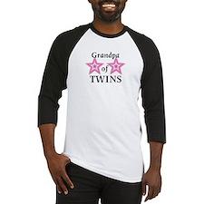 Grandpa of Twins (Girls) Baseball Jersey