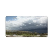 Storm on Tybee Island, GA Aluminum License Plate