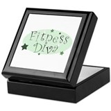 &quot;Fitness Diva&quot; [green] Keepsake Box