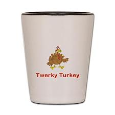 Twerky Turkey Shot Glass