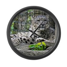 Snow Leopard Large Wall Clock