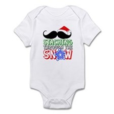 Staching Through The Snow Holiday Infant Bodysuit