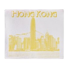 HongKong_10x10_v1_Skyline_Central_Ye Throw Blanket