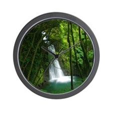 Waterfall in Azores Wall Clock