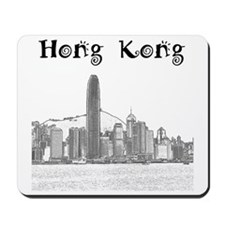 HongKong_12X12_Skyline_Central_Black Mousepad