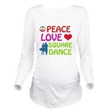 Square dance designs Long Sleeve Maternity T-Shirt