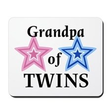Grandpa of Twins (Girl, Boy) Mousepad