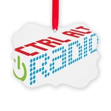 Ctrl Alt Radio Main Logo Ornament