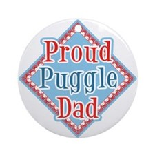 Proud puggle Dad Ornament (Round)