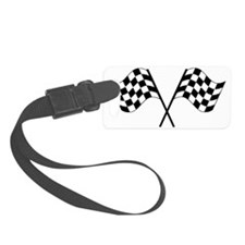 Checked Flags Luggage Tag