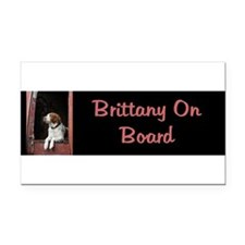 Cute American brittany Rectangle Car Magnet