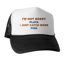 Honey Badger Queen of Bass Fishing Trucker Hat