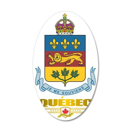 Quebec COA 35x21 Oval Wall Decal