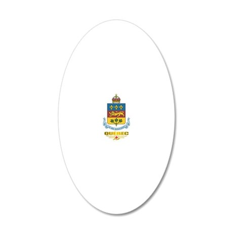 Quebec COA 20x12 Oval Wall Decal