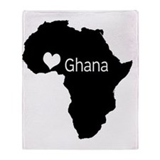 ghanacountry Throw Blanket