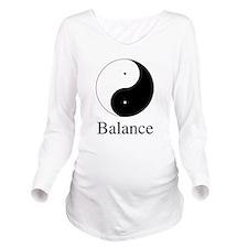 Balance Yin & Yang.png Long Sleeve Maternity T-Shi