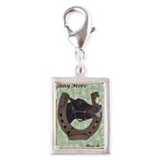 Cute Whinny More Buck Less H Silver Portrait Charm