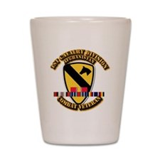 Army - 1st Cav Div w Afghan Svc Shot Glass