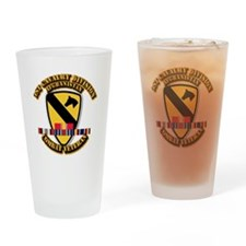 Army - 1st Cav Div w Afghan Svc Drinking Glass
