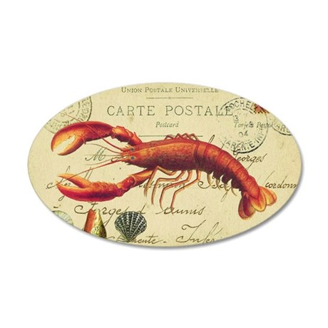 vintage French postcard with 35x21 Oval Wall Decal