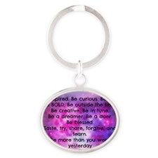 Be inspired back ART Oval Keychain