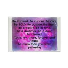 Be inspired back ART Rectangle Magnet